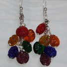 Floral Rainbow Cluster Earrings