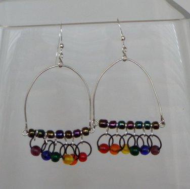 Rainbow Trapeze Earrings