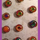 Rainbow Pattern Magnets- Set of 5