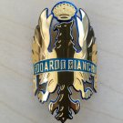 *GOLD* NEW edoardo BIANCHI Bicycle Head Badge FOR BICYCLE FRAME REPRO