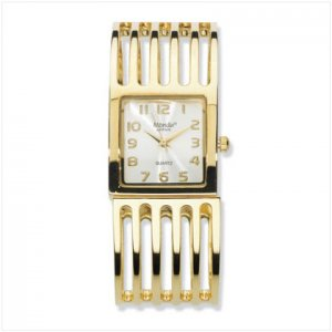 GOLD-PLATED BRACELET WATCH