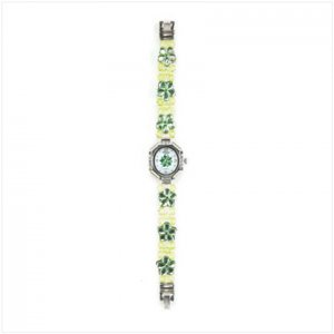 GREEN DAISY BAND FASHION WATCH