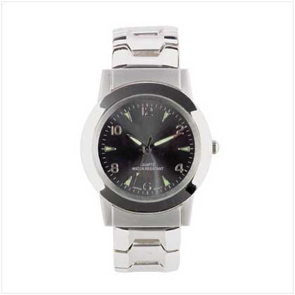 MEN`S SILVER METAL LINKS WATCH