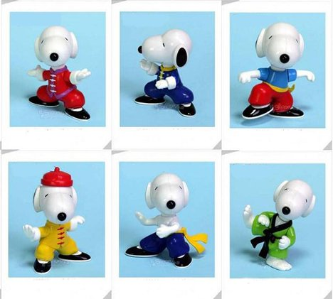 Snoopy Kung Fu figurines