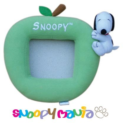 Snoopy hugging apple plush picture frame