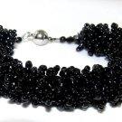 Black bracelet hand made