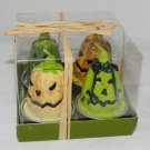 Box of 4 pumpkins for Halloween