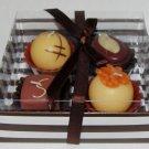 Box of belgian chocolates candles
