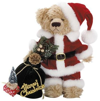 11'' STUFFED SANTA BEAR W/BAG