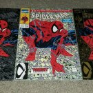 Marvel Comic Spider-Man 1 NM+ Gold Silver Green Variants Set 8/90 Todd McFarlane