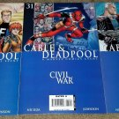 1 2 3 Marvel Comics Cable Deadpool 30 31 32 NM+ Civil War Spider-man Key book HG
