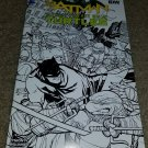 IDW DC TMNT Batman 1 NM Midtown Comics Sketch Blk Variant Turtles Low Print 2/16