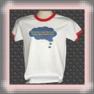 Funny I Don't Care I'm Sarcastic Cotton Ringer T-shirt Small