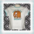 Respect Inner Monkey Ladies Cotton Ringer T-shirt XL