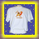 Funny Roof Runner Squirrel Short sleeve Cotton T-Shirt Large