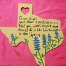 """12"""" Painted Wooden Texas Cutout"""
