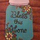 """12"""" Painted Wooden Mason Jar Cutout"""