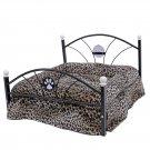 Luxury Pet Bed Dog House Zebra Leopard Sofa for Pet Cat Puppy Cushion Mats