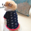 New Arrival Fashion Dog Footprint Printed Pet Dog Clothes