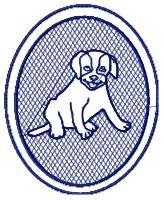Embossed Dog