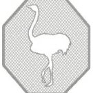 Embossed Ostrich Design