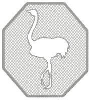 Embossed Ostrich Design