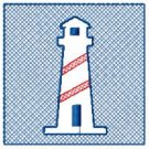 Striped Lighthouse Embossed Design