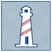 Striped Lighthouse Embossed Design