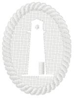 Embossed Lighthouse With Rope Trim Design