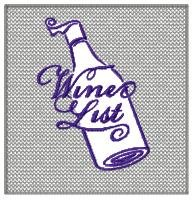 Wine List Embossed Design