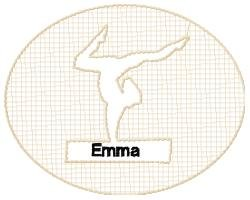 Personalized Embossed Gymnastics Design