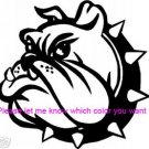 Bulldog - custom vinyl graphic  5x5 inch
