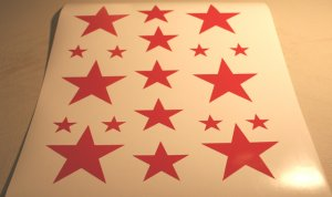 19 Stars - custom vinyl graphics