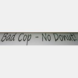 4x12 bad cop - no donut custom vinyl graphics