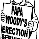 custom vinyl graphic papa woody's