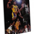 Magic Johnson Basketball Star Wall Decor 16x12 FRAMED CANVAS Print
