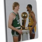 Larry Bird Magic Johnson Basketball Star Wall Decor 16x12 FRAMED CANVAS Print