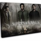 Supernatural Us Tv Show Season Art Wall Decor 16x12 Framed Canvas Print