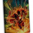 The Flash Superheroes Tv Series Comic Art 16x12 Framed Canvas Print