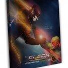 The Flash Season 2 Tv Series Art Wall Superhero 16x12 Framed Canvas Print