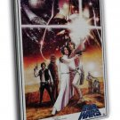Star Wars A New Hope Classic Movie 16x12 Framed Canvas Print