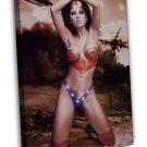 Wonder Woman Hot Sexy Model 16x12 Framed Canvas Print