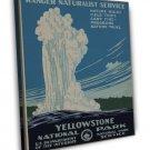 Vintage Yellowstone National Park Wpa Art 16x12 Framed Canvas Print