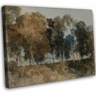 J M W Turner Trees By The River Thames Bridge Fine Art 16x12 Framed Canvas Print