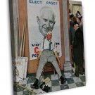 Norman Rockwell Vote For Casey Elect Casey Fine Art 16x12 Framed Canvas Print