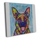 Dogs Never Lie German Shepard Dog Art Image 16x12 FRAMED CANVAS Print