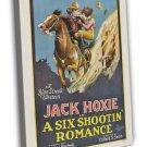 A Six Shootin Romance 1926 Vintage Movie Framed Canvas Print