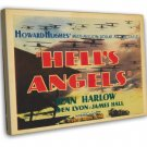 Hell S Angels 1930 Vintage Movie Framed Canvas Print
