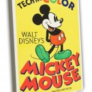 Mickey Mouse Stock Poster 1935 Vintage Movie FRAMED CANVAS Print 8