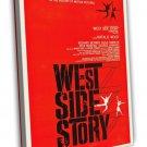 West Side Story 1961 Vintage Movie Framed Canvas Print